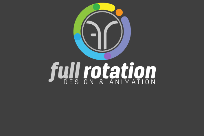 Full Rotation design and animation logo