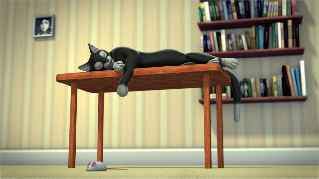 talking cat 3d animation