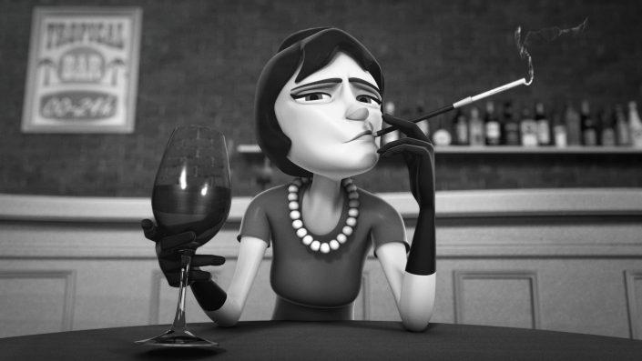 hangover 3D character facial animation