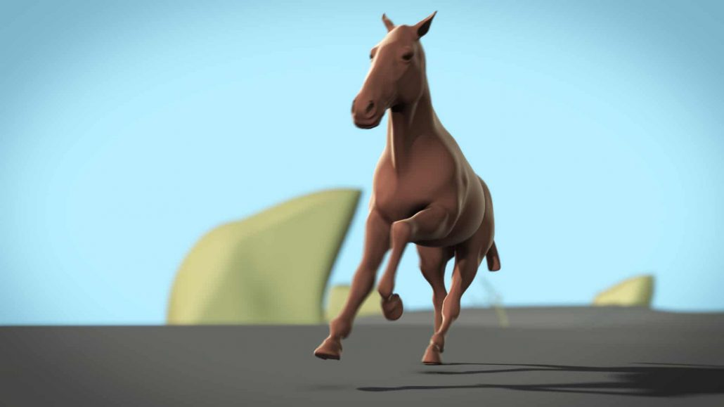 Horse gaits 3d animation study