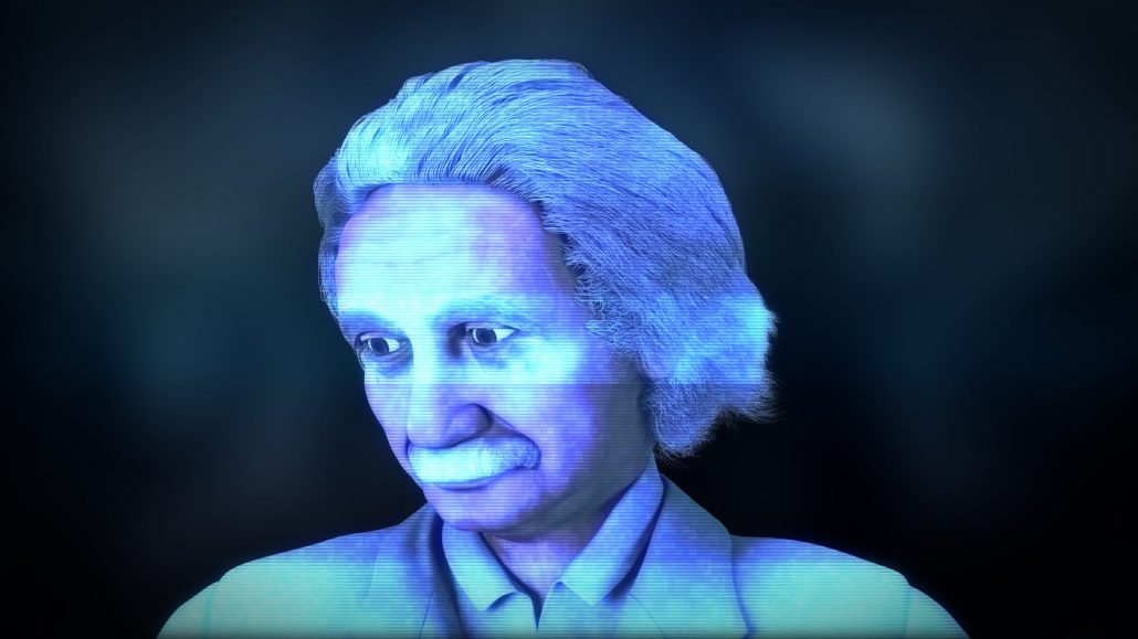 albert einstein 3d character animation