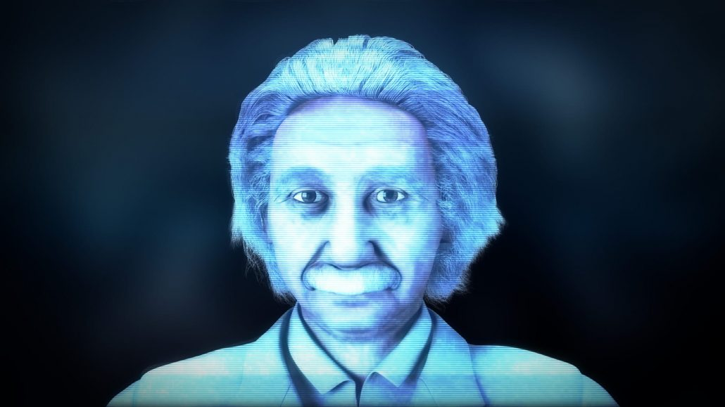 3d animated einstein hologram