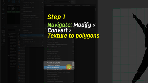 navigate to texture to poly